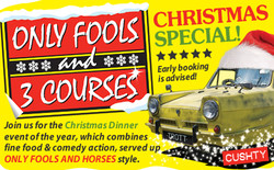 Only Fools and 3 Courses Xmas Special Dinner Mercure Hotel Maistone 22/11