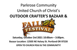 Parkrose Ucc Outdoor Crafter's Bazzzr and Fall Festival