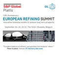Platts 10th Anniversary European Refining Summit