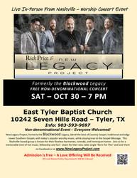 Popular Nashville quartet live in concert at East Tyler Baptist Church