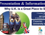 Presentation and Information Session: Why U.k. is Great Place to Study?