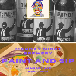 Rappers Paint and Sip w/ Sarah Paints Rappers @ Monday Night Garage