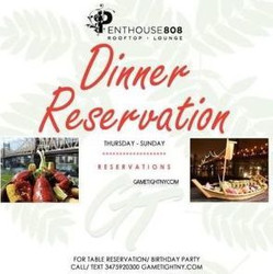 Ravel Penthouse 808 Dinner Reservations
