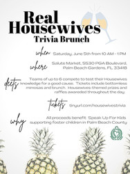 Real Housewives Trivia Brunch benefiting Speak Up for Kids