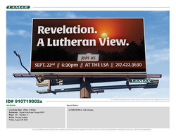 Revelation - A Lutheran View. Begins Sept. 22nd at 6:30 pm!