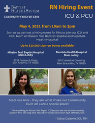 Rn Icu and Pcu Hiring Event on 5/4 | Baptist Health System