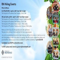 Rn Operating Room and Cath Lab Hiring Event on 4/13 | The Hospitals of Providence