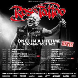 Rose Tattoo at Islington Assembly Hall, London - New Date