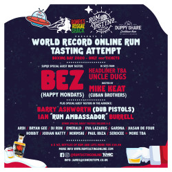 Rum Tasting Online with Bez (Happy Mondays) - World Record Attempt Spoonsored by Duppy Share Rum
