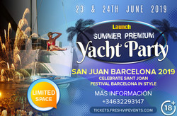 San joan festival barcelona - Day yacht beach night