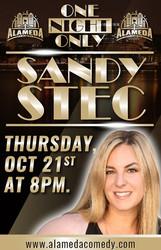 Sandy Stec at the Alameda Comedy Club