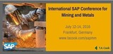 Sap Mining & Metals Forum - Now Intl Sap Conference for Mining & Metals