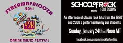 School of Rock FortCollins presents the Streamapalooza Online Music Festival