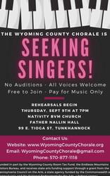 Seeking Singers! - Wyoming County Chorale