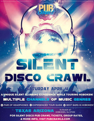 Silent Disco Walking Tour Bar Crawl Hoboken - April 2020