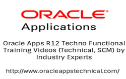 Oracle Apps R12 Techno Functional Training Videos (Tech, Scm)