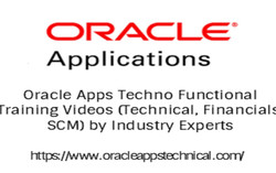 Oracle Apps R12 Techno Functional Training Videos (Tech, Fin, Scm) Published on Udemy