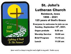 St. John's Lutheran Church 125th Anniversary