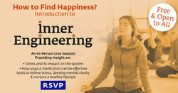 Stress Free and Healthy Living with Inner Engineering - Maryland