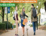 Study in Australia: Presentations, Info Session and Free Application Fee