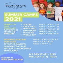 Summer Fun Camp and Basketball Plus Camp at the South Shore Sports Center - Held Multiple Weeks