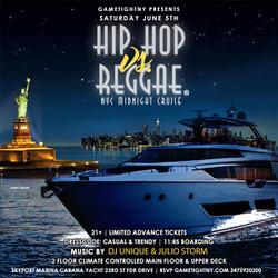 Summer Nyc Midnight Hip Hop vs Reggae® Cruise Skyport Marina Cabana Yacht