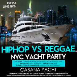 Summer Sunset Cruise Nyc Hip Hop vs Reggae® Yacht Party Skyport Marina