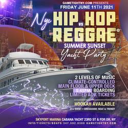 Sunset Nyc Summer Cruise Hip Hop vs Reggae® Yacht Party Skyport Marina