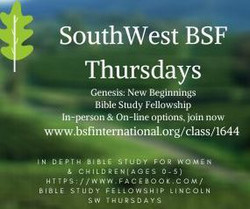 Sw Bsf Thursdays, Bible study for Women and Children (0-5) 1111 Old Cheney Road