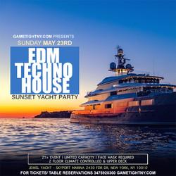 Techno Edm House Sunset Yacht Party Sunday Funday Cruise Skyport Marina Jewel Yacht 2021