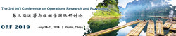 The 3rd Int'l Conference on Operations Research and Fuzziology (orf 2019)