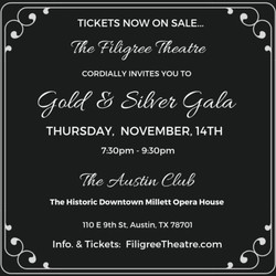 The Filigree Theatre's Gold & Silver Gala