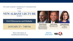 The New Albany Community Foundation presents The New Albany Lecture Series: Civil Discourse & Debate