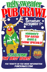 Ugly Sweater Pub Crawl Hoboken Nj - December 2020