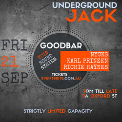 Underground Jack @ Goodbar Sydney, 21/09/2018