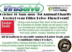 Virusolve's 1st Annual Charity Drive in support of Easter Seals Bc & Yukon