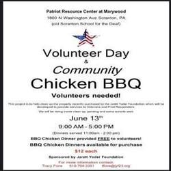 Volunteer Day and Community Bbq Chicken