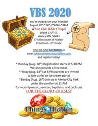 White Oak Bible Chapel's 2020 Vbs