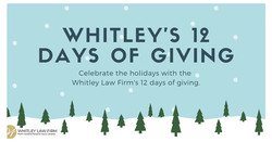 Whitley Law Firm's 12 Days of Giving Giveaway