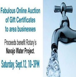 Win-win-win! Rotary Clubs' Online Auction to Benefit Navajo Water Project