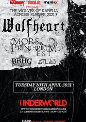 Wolfheart, Mors Principium Est, Bloodred Hourglass, Atlas - The Underworld Camden
