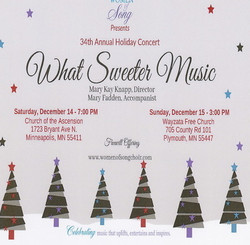 """Women of Song Holiday Concert """"What Sweeter Music"""""""