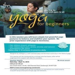 Yoga For Beginners on Saturday September 14, 2019 at 2.00 pm in Toronto