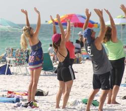 Yoga On Siesta Beach Public Beach
