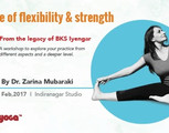 Yoga Workshop: From The Iyengar Style Practice