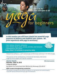 Yoga for Beginners - Free open to all 7 age & above on Sat Sep 14, Gta