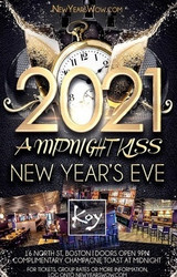"""a Midnight Kiss"" New Year's Eve 2021 at Koy Lounge Boston"