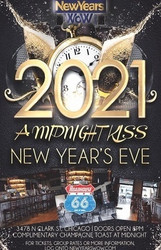 """a Midnight Kiss"" New Year's Eve 2021 at Roadhouse 66 Wrigleyville Chicago"