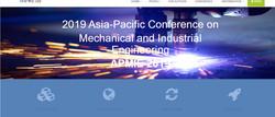 【ei/cpci/scopus检索】2019亚太机械和工业工程国际会议(apmie 2019)