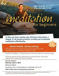 [free] Meditation For Beginners on Sat, Sept 21, 2019 at 2 pm, Vaughan